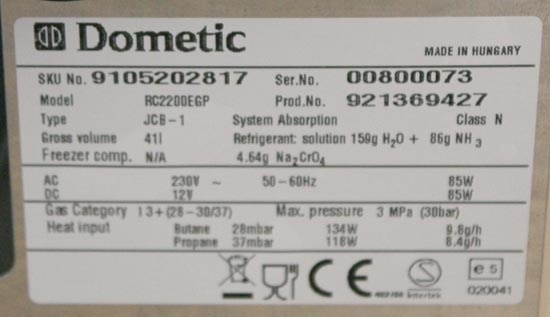 Dometic Combicool RC2200EGP