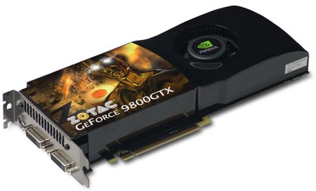 ZOTAC GeForce 9800GTX.