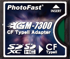 PhotoFast GM-7300 SDXC-to-CF